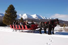 winter sleigh rides with two below zero and breck stables