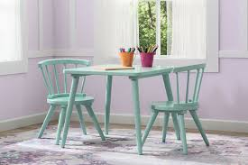 3 piece table and chair set amazon com delta children windsor table 2 chair set aqua baby