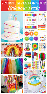 Rainbow Party Decorations Interior Design Rainbow Themed Birthday Party Decorations Small
