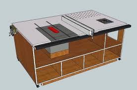 table saw station plans table saw station 1 framing by brazz04 lumberjocks com