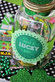 lucky day mason jar gift lottery tickets free printable and coins