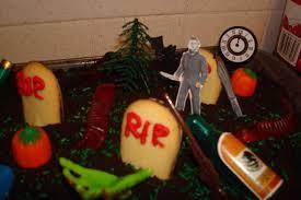 my amazing cemetery movie cake and cupcakes halloween recipe