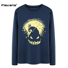 flevans mens autumn sleeve t shirts the nightmare before