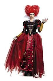 Queen Elizabeth Halloween Costume Amazon Disney Women U0027s Alice Red Queen Deluxe Costume Clothing