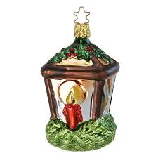 inge glas holiday glow lantern with candle mouth blown glass