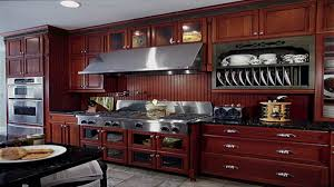 kitchen contemporary cherry wood kitchen cabinet ideas with grey