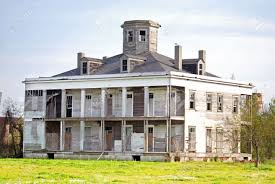 old house haunted and boarded up on this estate in new orleans