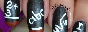 nail art how to back to chalkboard nails nail it