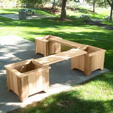 Deck Planters And Benches - planter and bench set would be great on my deck yard