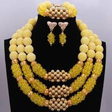 big necklace sets images Black beads bridal jewelry sets gold big ball bold crystal jpg