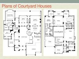 courtyard plans courtyard house style