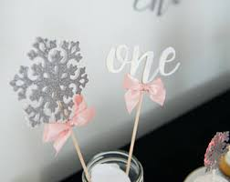 Winter Wonderland Centerpieces Fun Party Decor Cupcake Toppers Banners U0026 More By Weloveaparty