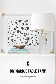 diy marble table lamp the everygirl