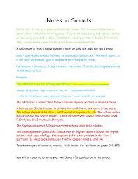 pattern poem definition notes on renaissance era sonnets