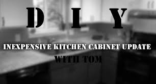 Refinishing Melamine Kitchen Cabinets by Easy Inexpensive Diy Kitchen Cabinet Reface With Trim And Paint