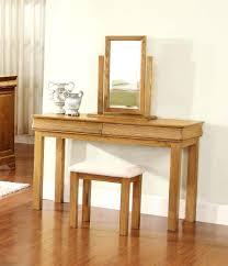 Oak Vanity Table Dressing Table With Mirror And Stool U2013 Vinofestdc Com