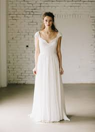 wedding dresses vintage a line ivory cap sleeve vintage lace and chiffon wedding