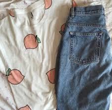 pattern jeans tumblr shirt tumblr aesthetic peach pattern my imaginary closet