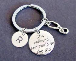 graduation keychain she believed she could so she did gift keyring nursing