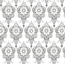 print a wallpaper floral henna pattern print as a wallpaper 2 by riizwanaarts on
