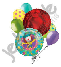 circus balloon disney jojo s circus happy birthday balloon bouquet jeckaroonie