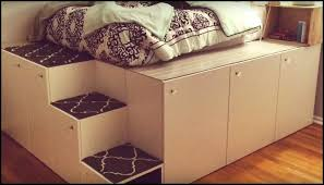 Making A Platform Bed Out Of Kitchen Cabinets by Platform Bed With Storage Made From Kitchen Cabinets Diy