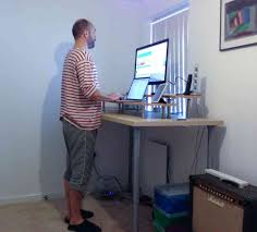 Diy Standing Desk Ikea by Do It Yourself Ikea Hack Standing Desk