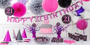 cing themed party pink sparkling celebration 21st birthday party supplies party city