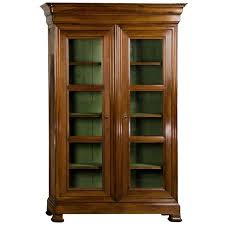 Louis Philippe Open Bookcase Louis Philippe Tall Shallow Walnut Display Cabinet Bibliotheque