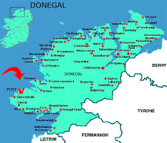 map port location port donegal