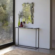 narrow metal console table mahaut marble console table marble console table narrow console
