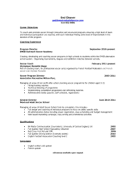 Coach Resume Example by Athletic Coach Resume Objective Virtren Com