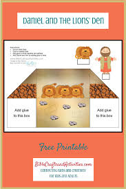 daniel in the lions den mini book printable free bible sunday