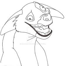 hyena coloring page best lion king characters simba and nala