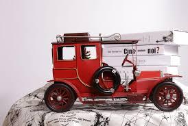 tinplate car model classic english tour bus purely manual craft