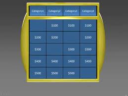 jeopardy powerpoint template 4 categories gavea info