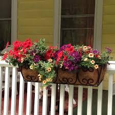 Front Porch Planter Ideas by Front Porch Planter Boxes Front Porch Railing Flower Boxes Pink