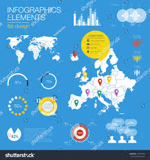 Modern Europe Map by Detail Modern Infographic Vector Illustration Map Stock Vector