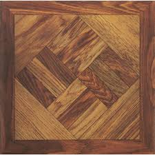 home impressions 12 x 12 wood parquet pattern vinyl floor tile