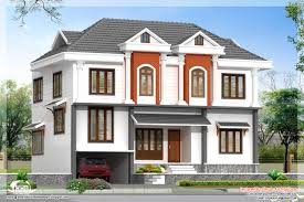 2172 sq feet villa 3d view and floor plan home design plans villa elevation