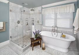 master bathroom remodel inspiration valley home builder the glass enclosed shower and freestanding tub for the master bathroom remodel by valley home