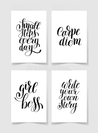 printable quotes in black and white set of four black and white handwritten lettering positive quote