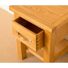 Small Lamp Table Newlyn Oak Side Table Light Oak Lamp Table With Drawer Solid