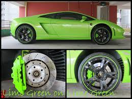 Lamborghini Gallardo Lime Green - the pioneer of caliper painting others