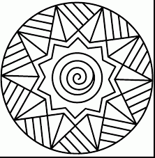 wonderful star coloring page mandala with free mandala coloring