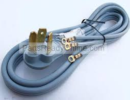 3 wire electric dryer cord zgj3362 with closed eyelet 125 250v 30a