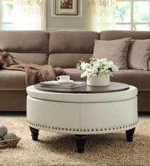 Nailhead Storage Ottoman Features Solid Wood Legs Decorative Nail Details Large