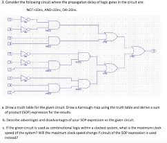 What Is A Truth Table Consider The Following Circuit Where The Propagati Chegg Com