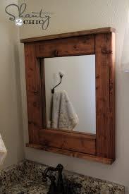 Framing Bathroom Mirrors Diy Wood Framed Bathroom Mirrors Maple Wood Framed Bathroom Mirrors