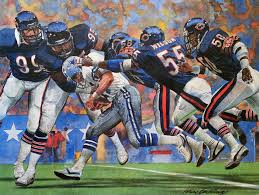 1985 chicago bears vs dallas cowboys sears print by merv corning